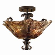 Uttermost Vetraio 2 Light Glass Semi Flushmount