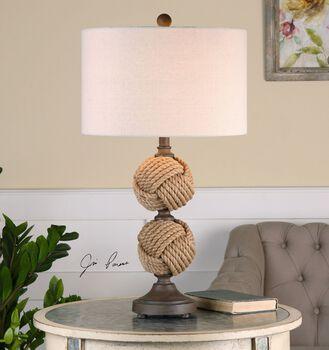 Uttermost Higgins Rope Spheres Table Lamp