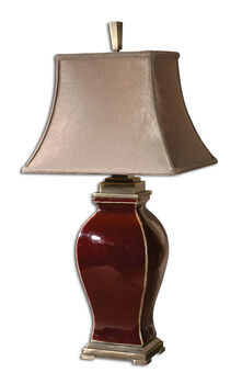 Uttermost Rory Burgundy Table Lamp