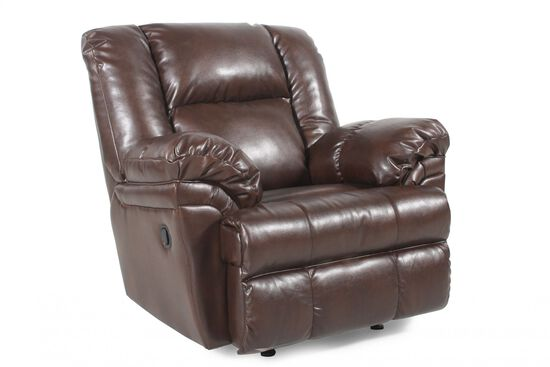 Ashley Performance Leather Brindle Recliner Mathis Brothers Furniture