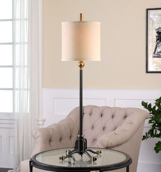 Uttermost Halvern Metal Buffet Lamp