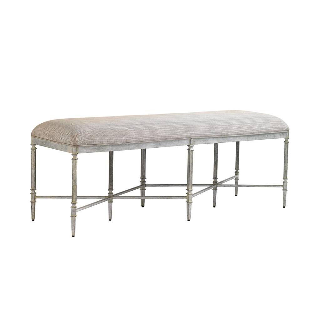 stanley preserve salted silver leaf gardiner bench mathis brothers furniture