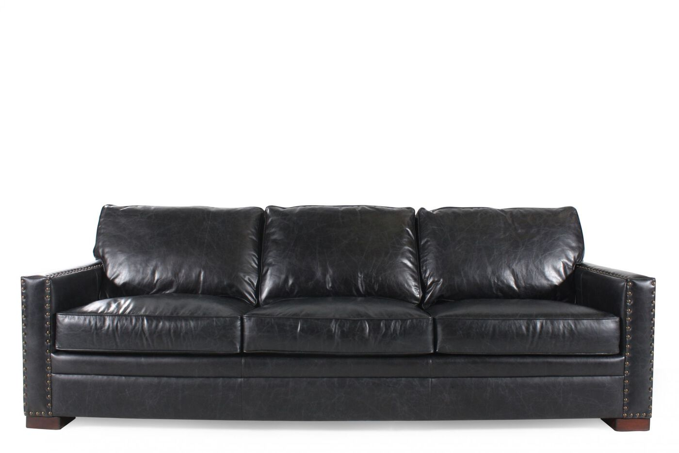 Henredon Leather Sofa Mathis Brothers Furniture