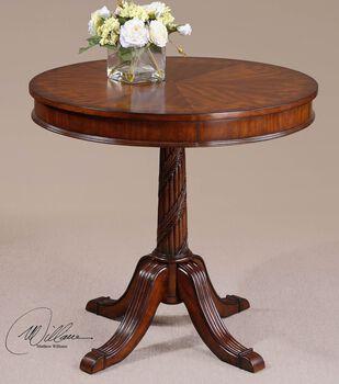 Uttermost Brakefield Pecan Round Table