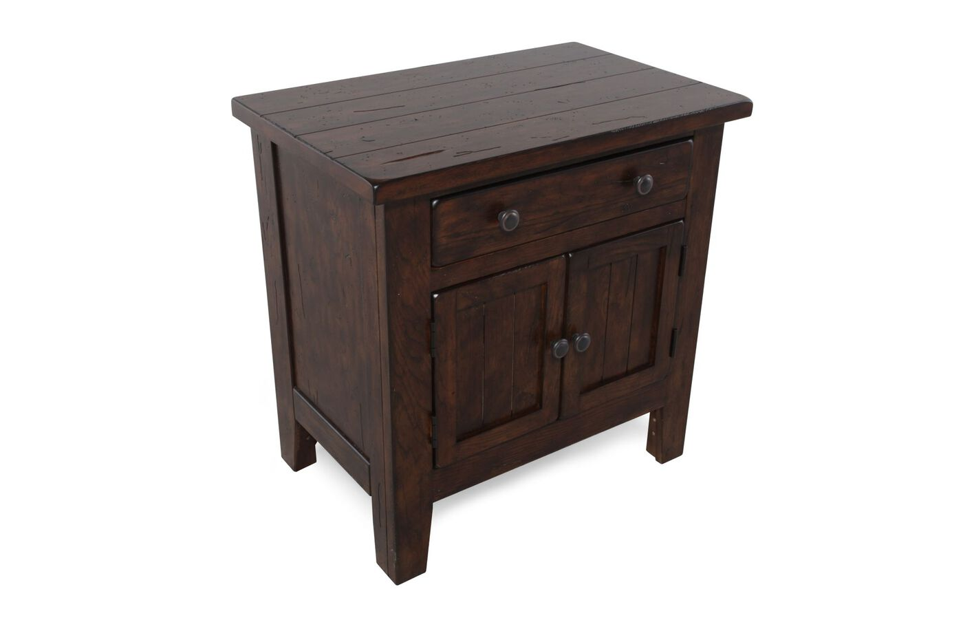Broyhill Attic Heirlooms Rustic Oak Nightstand Mathis Brothers Furniture