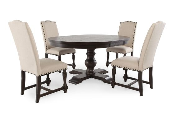5 Piece Round Dining Set By Winners Only Mathis Brothers