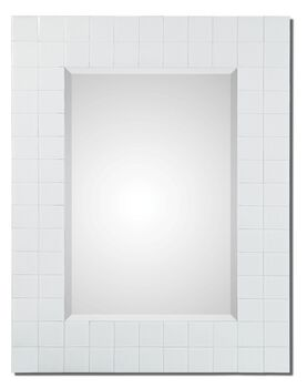 Uttermost Brooks White Mosaic Mirror
