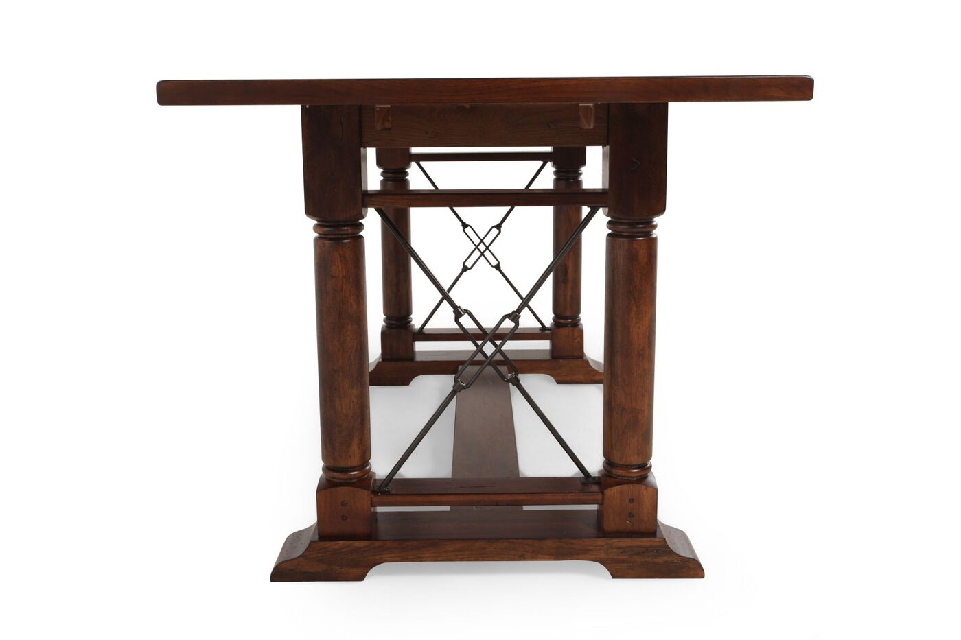 Broyhill Attic Heirlooms Rustic Oak Counter Height Table   Mathis ...