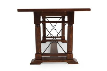 Broyhill Attic Heirlooms Rustic Oak Counter Height Table