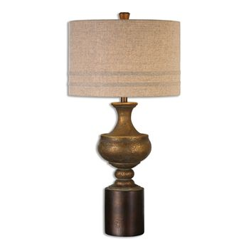 Uttermost Giuliano Antiqued Gold Table Lamp