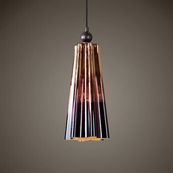 Uttermost Chocley 1 Light Glass Mini Pendant