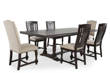 Winners Only Xcalibur Seven-Piece Espresso Dining Set