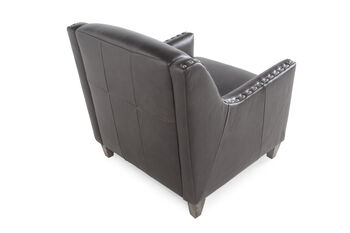 Boulevard Charcoal Leather Chair