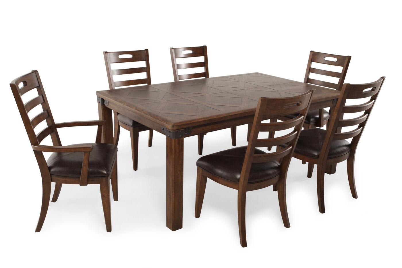 pulaski heartland falls seven piece dining set mathis