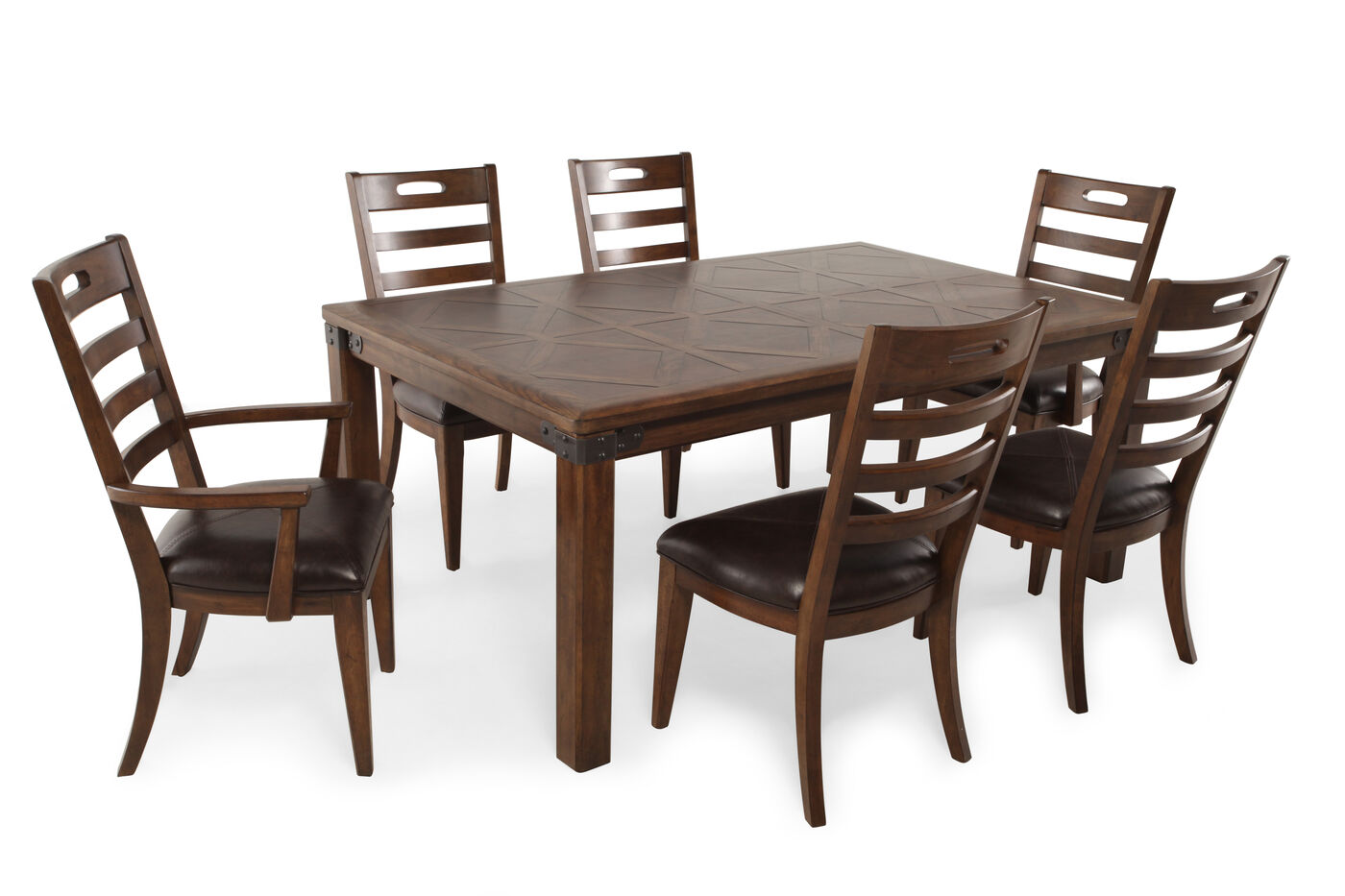 Pulaski heartland falls seven piece dining set mathis brothers furniture - Pulaski dining room ...