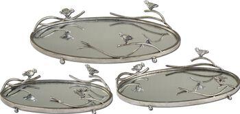 Uttermost Birds On A Limb Mirrored Trays, Set/3