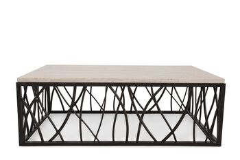 Hooker Stone/Iron Rectangle Cocktail Table
