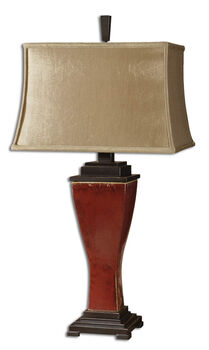 Uttermost Abiona Red Table Lamp