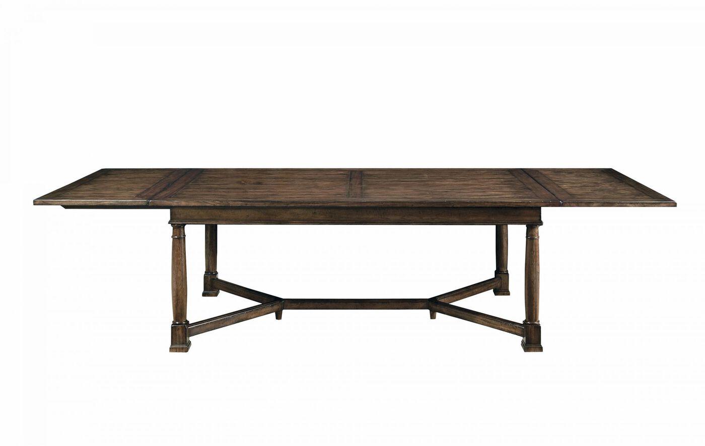 Bernhardt Vintage Patina Trestle Dining Table Mathis Brothers Furniture