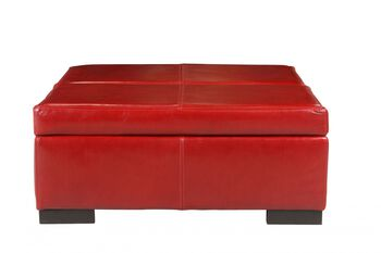 Jonathan Louis Donavan Leather Storage Ottoman