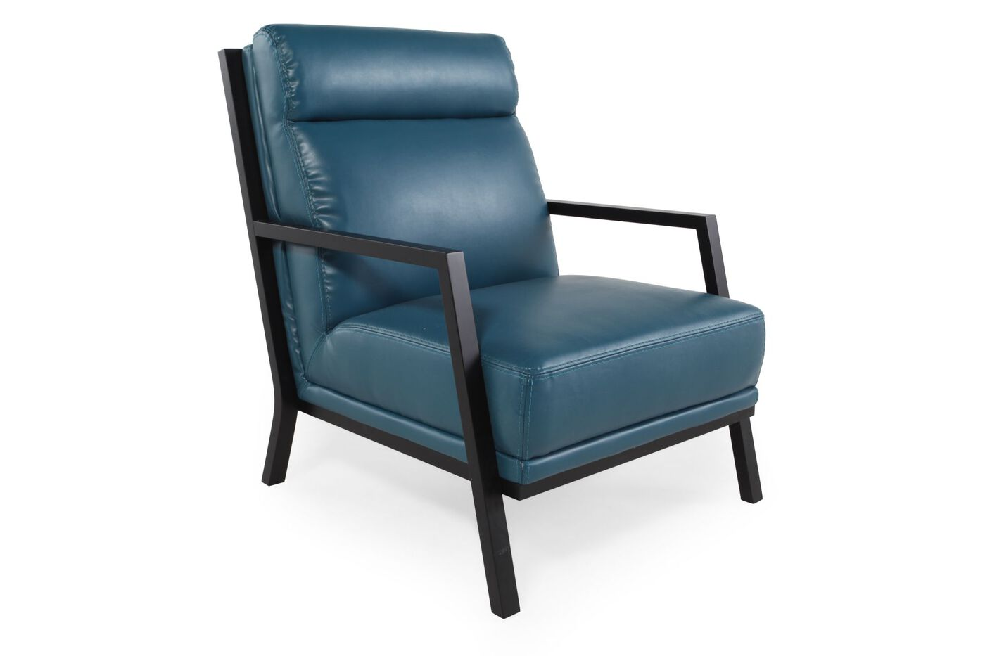 Boulevard Blue Leather Accent Chair   Boulevard Blue Leather Accent Chair. Boulevard Blue Leather Accent Chair   Mathis Brothers Furniture