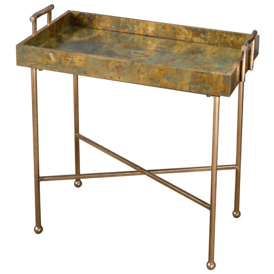 Uttermost Couper Oxidized Tray Table