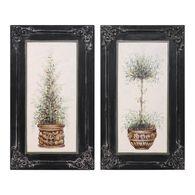 Uttermost Topiaries Hand Painted Art, S/2