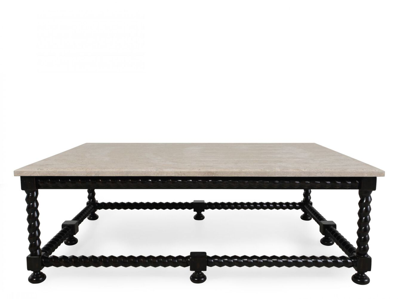 Bernhardt Cordova Stone Top Cocktail Table Mathis Brothers Furniture