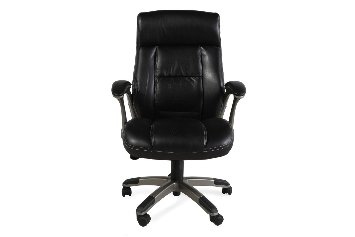 Sauder Tall Leather Managers Chair Mathis Brothers Furniture