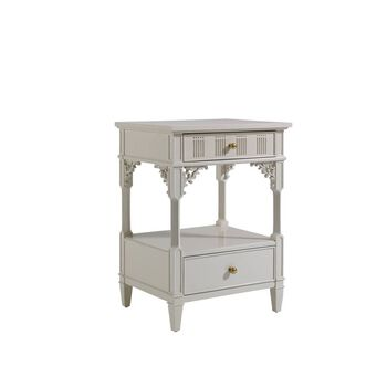 Stanley Charleston Regency Ropemaker's White Palmetto Telephone Table