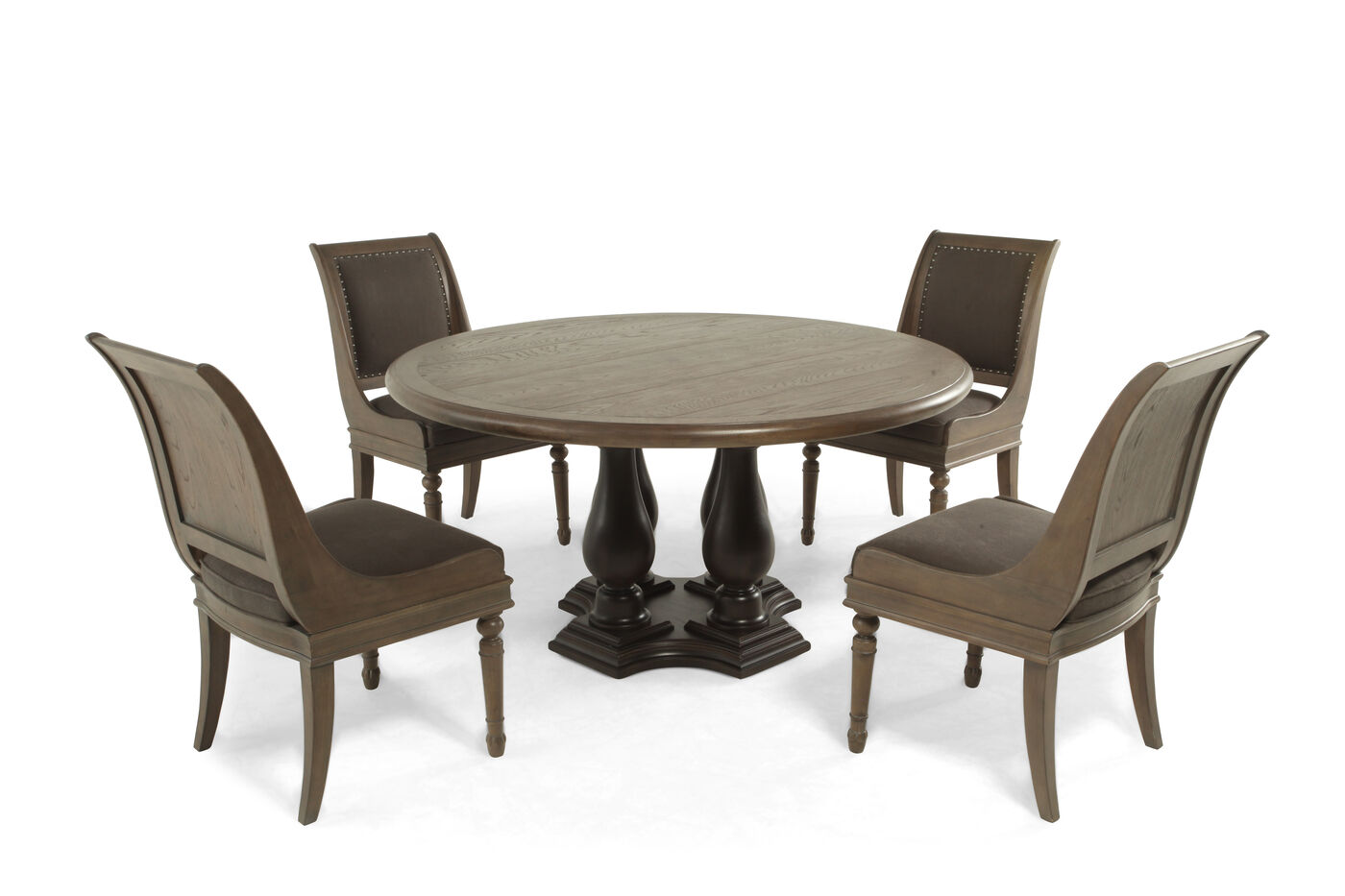 Bernhardt Belgian Oak Five Piece Dining Set Mathis Brothers Furniture
