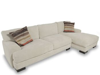 Jonathan louis burton sofa with chaise mathis brothers for Sofa bed 91762