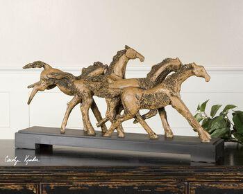 Uttermost Wild Horses Rustic Sculpture