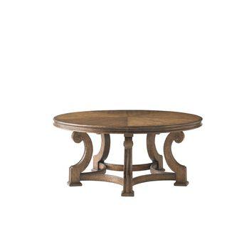 Stanley La Palma Caramel Round Cocktail Table