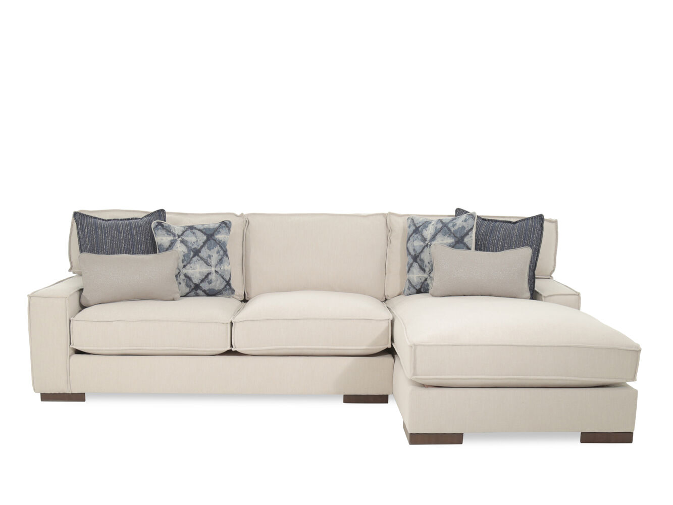 Two Loveseats In Living Room Ashley Kendleton Quartz Two Piece Sectional Mathis Brothers