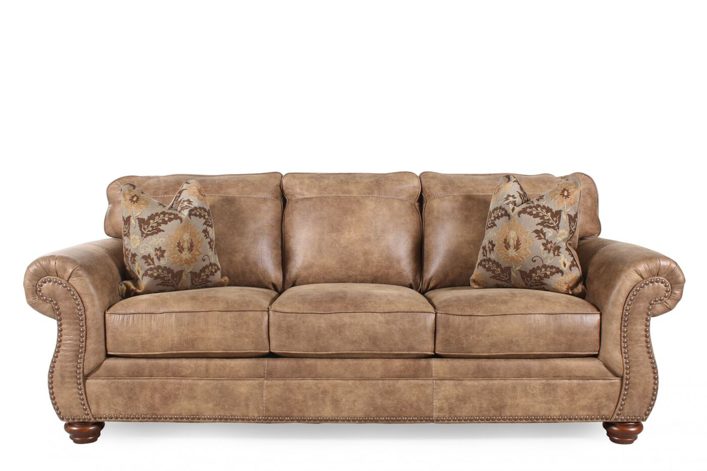 Ashley larkinhurst earth sofa mathis brothers furniture for Mathis brothers living room furniture sectional sofas