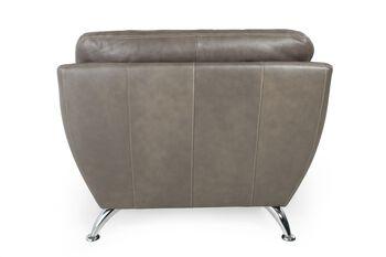 Simon Li Leather Longhorn Steel Chair