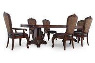A.R.T. Furniture Seven-Piece Old World Pedestal Table Dining Set