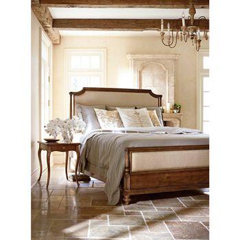 Stanley Arrondissement Vintage Neutral Palais Queen Upholstered Bed