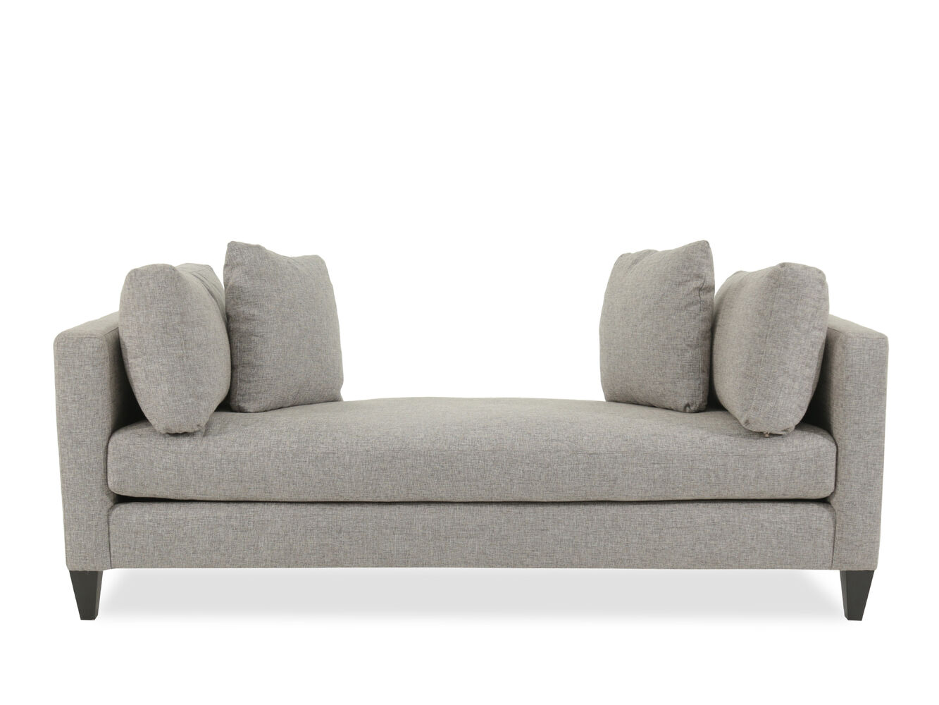 Bernhardt saxon gray chaise mathis brothers furniture for Bernhardt chaise