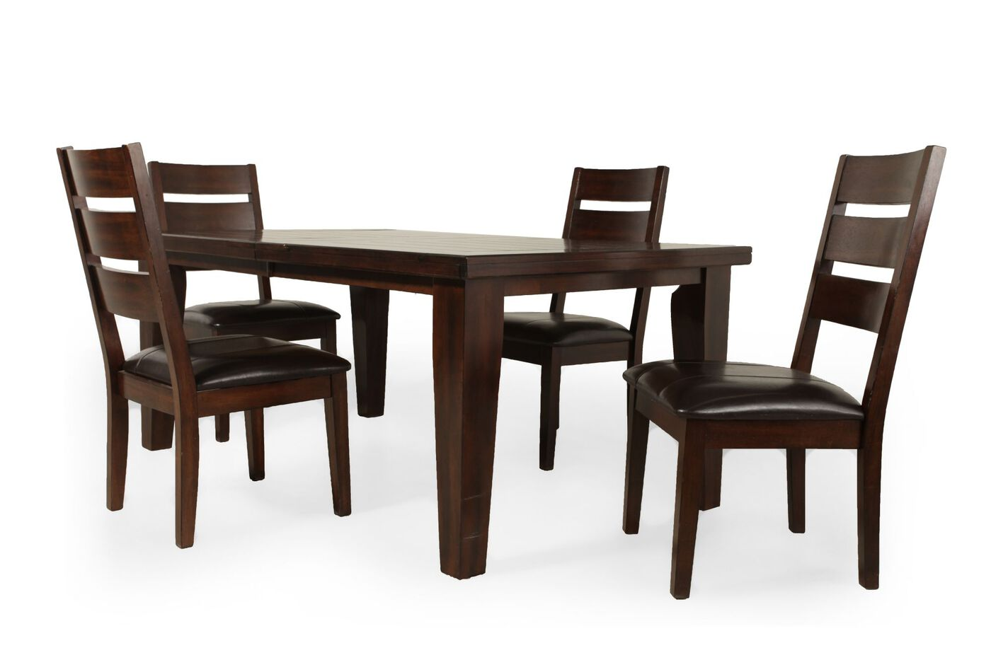 Ashley larchmont five piece extension dining set mathis for 2 piece dining room set