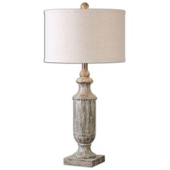 Uttermost Agliano Aged Dark Pecan Lamp