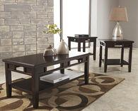 Ashley Logan Dark Brown Occasional Table Set