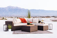 Ashley Loughran Four-Piece Brown Outdoor Sectional Set