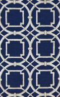 LBJ Hand Tufted Wool/Viscose Blue/White 5' X 8' Rug