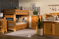 Trendwood Wrangler Cinnamon Twin Bunk Bed