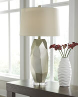 Ashley Darda Silver Poly Table Lamp