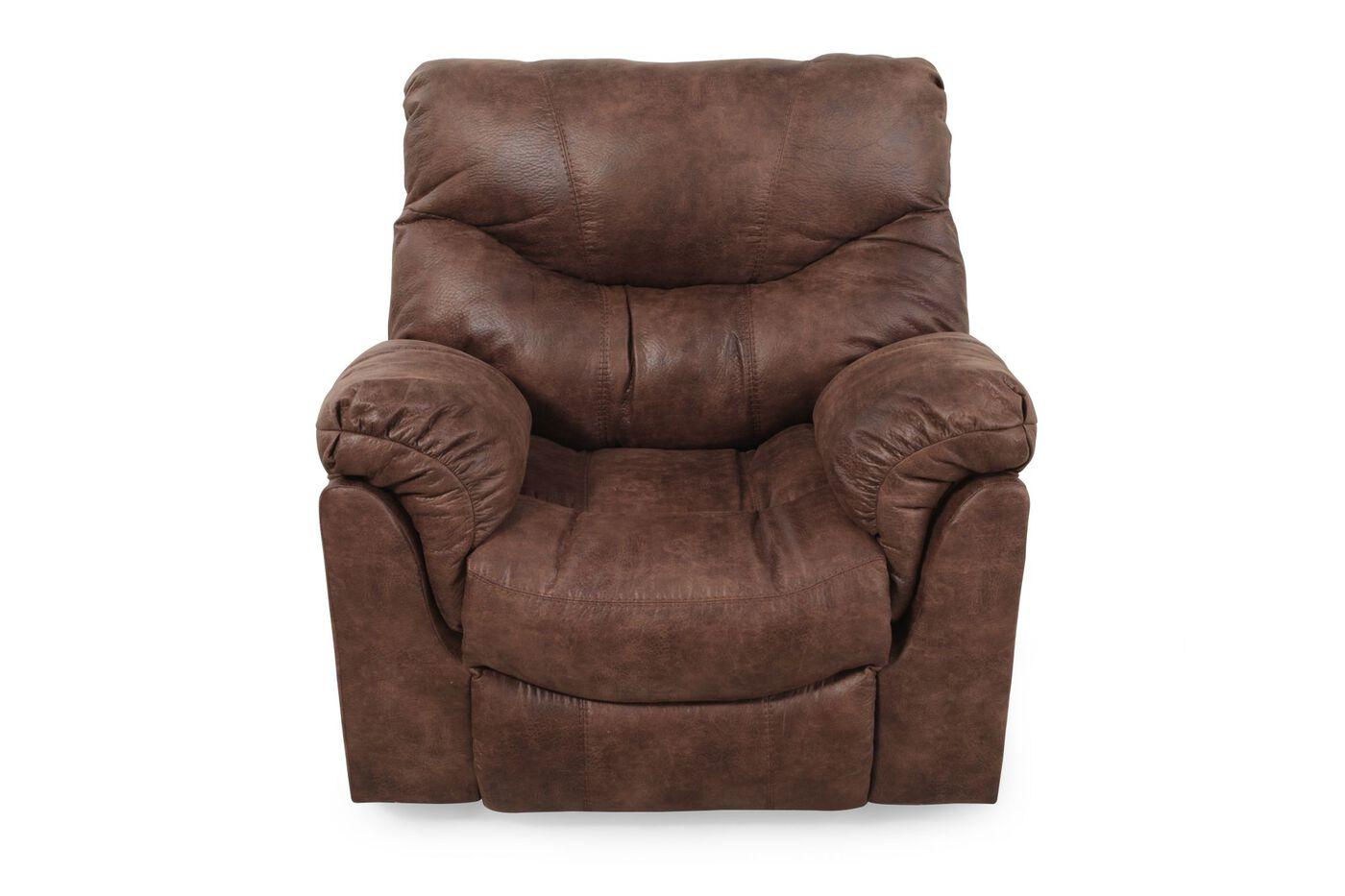 Ashley Alzena Gunsmoke Recliner Mathis Brothers Furniture