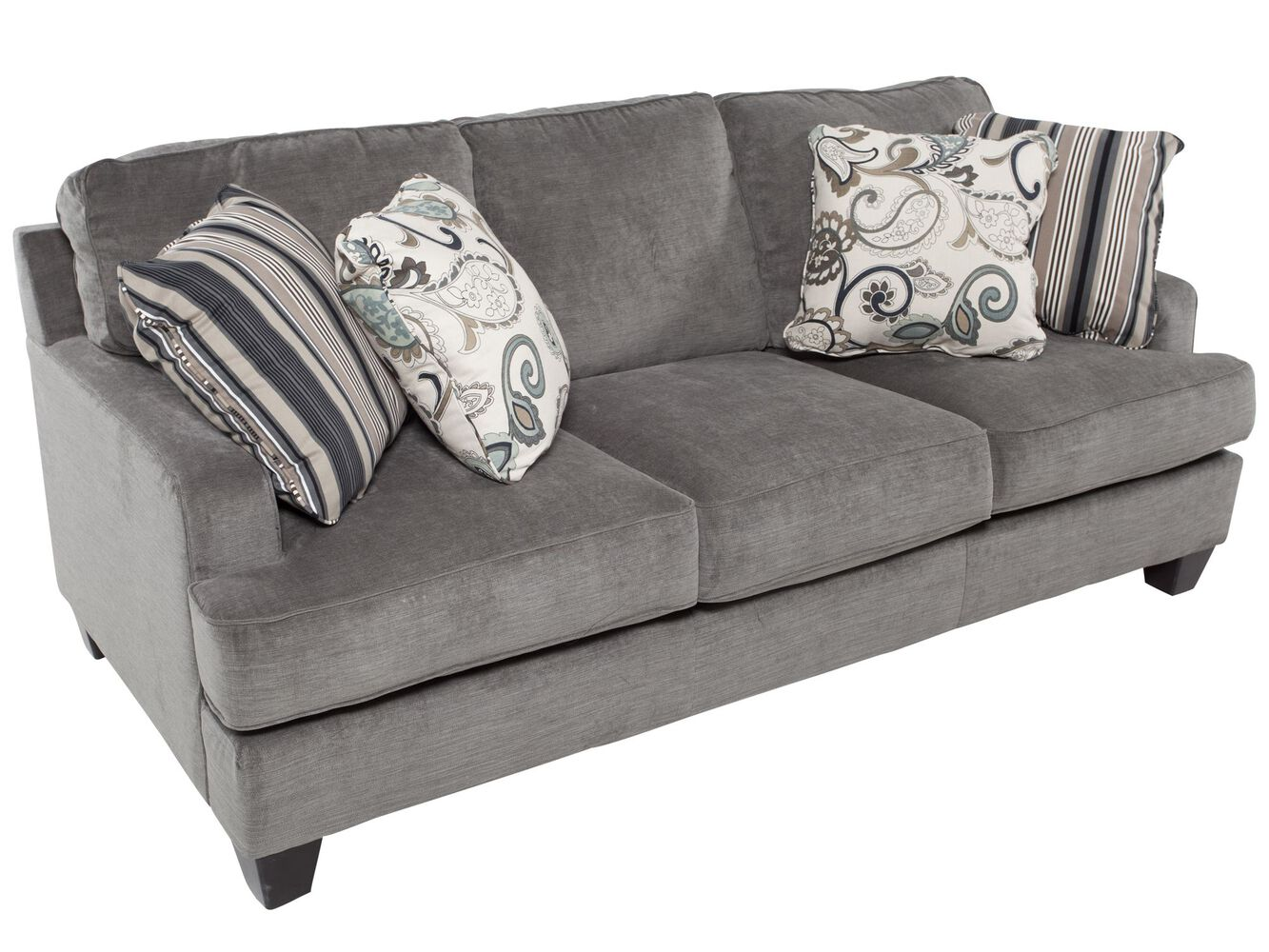 Ashley Yvette Steel Blue Sofa Mathis Brothers