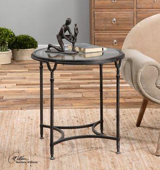Uttermost Samson Glass Side Table